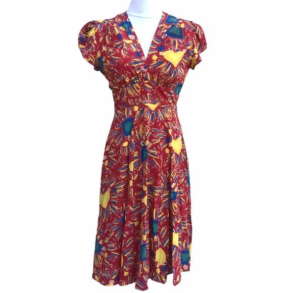 Trashy Diva Sacred Hearts Bonita Dress Silk Size 4